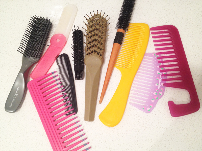 The hair comb or the hair brush?