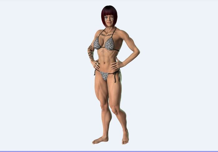 A female body builder - photo in the public domain via Pixabay
