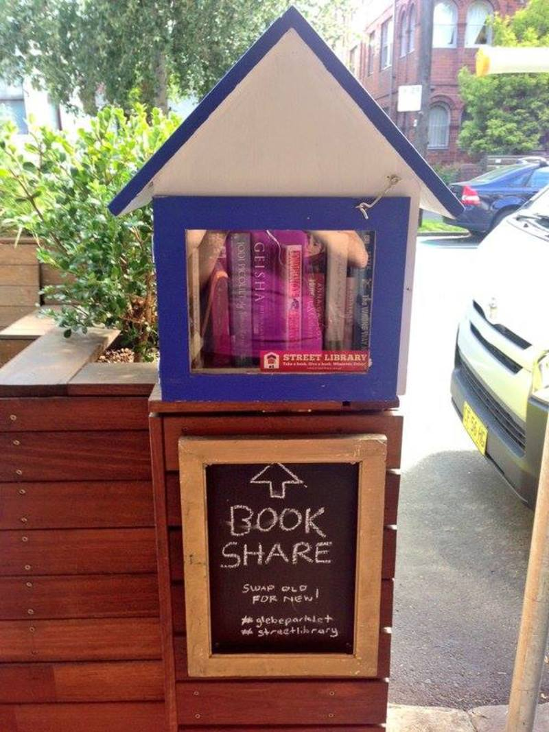 A little street libraray - photo courtesy of Street Libraries Australia Facebook Page
