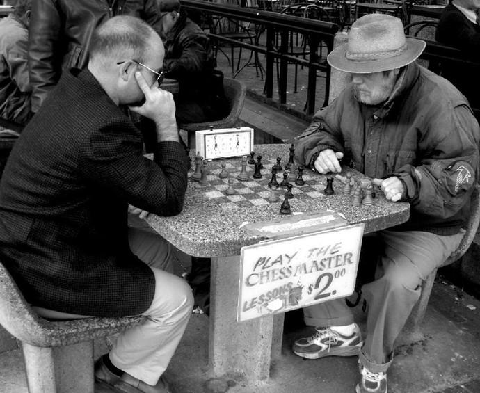 chess game grandmaster park outdoors sport