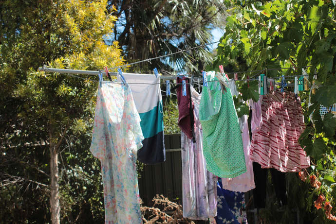 clothes, drying, laundry, hills hoist, washing line