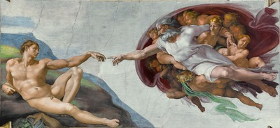 creation Adam God Michaelangelo Bible religion Old Testament Sistine Chapel