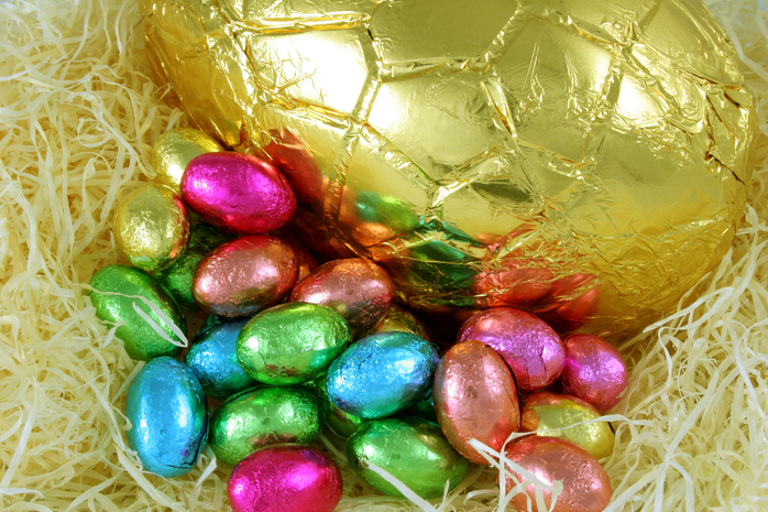 Easter eggs chocolate food shopping holidays festivals