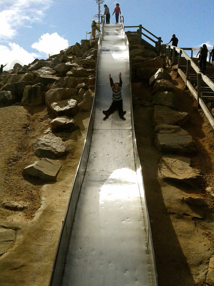 giant playground slide (own photo)