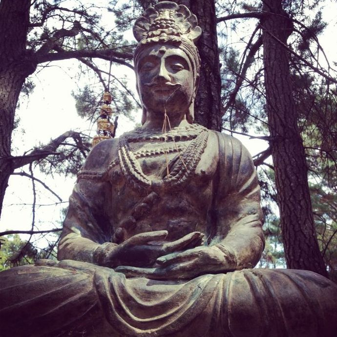In the garden of a Buddhist Monestary - Photo taken by myself