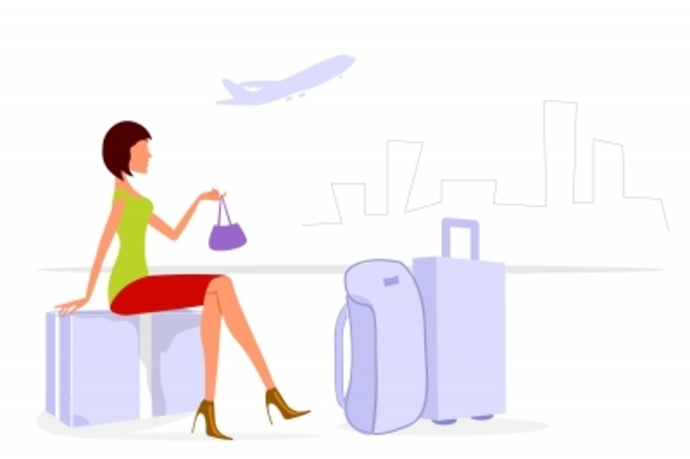lady with luggage, travel with luggage