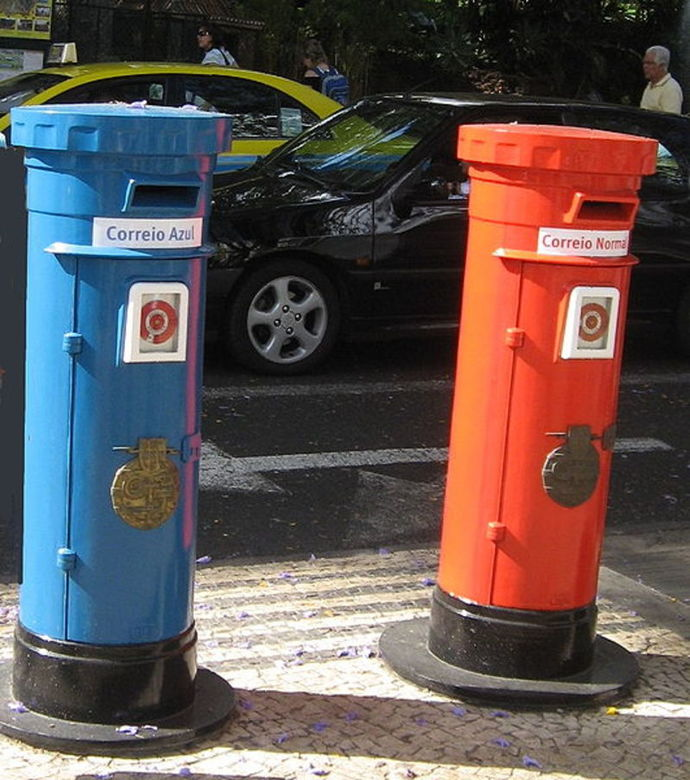 letter boxes, mail, postboxes in Portugal