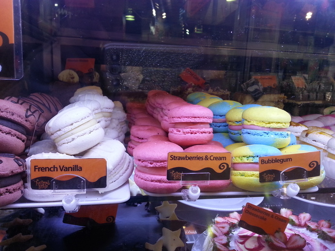 macarons, desserts, snacks, flavours