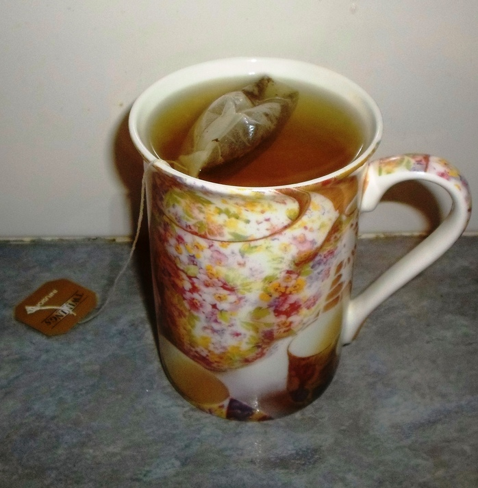 Mug with tea bag