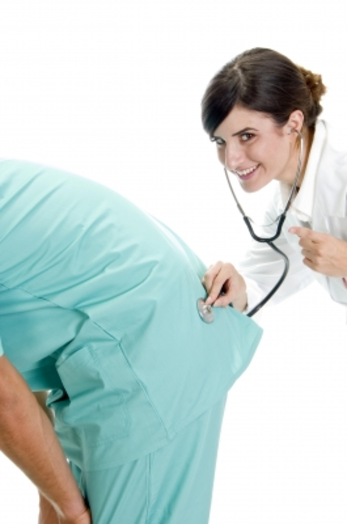 patient doctor fart bottom stethoscope examination humour smile laugh