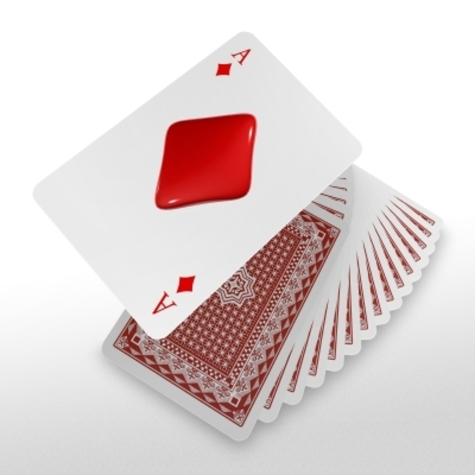 playing cards, ace of diamonds