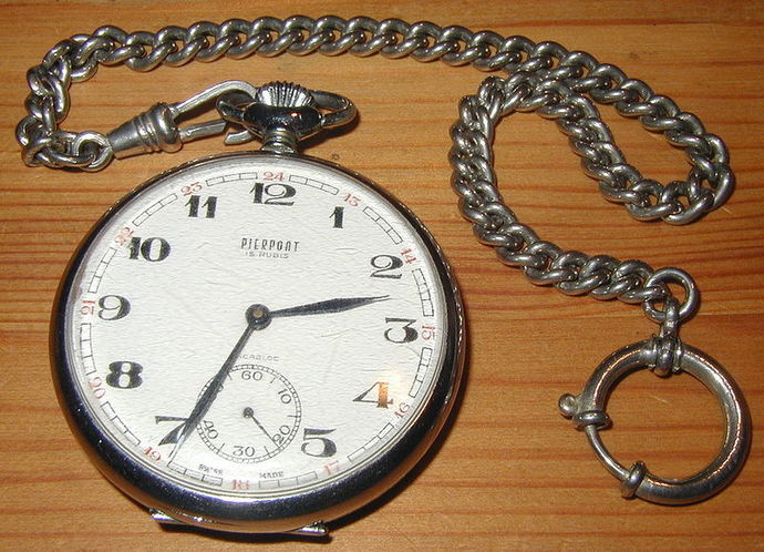 pocket watch chain time hour hands