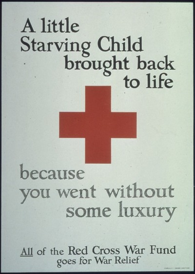 red cross starving child food luxury charity