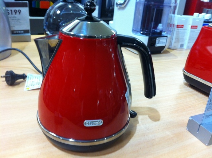 Red kettle useful kitchen appliance