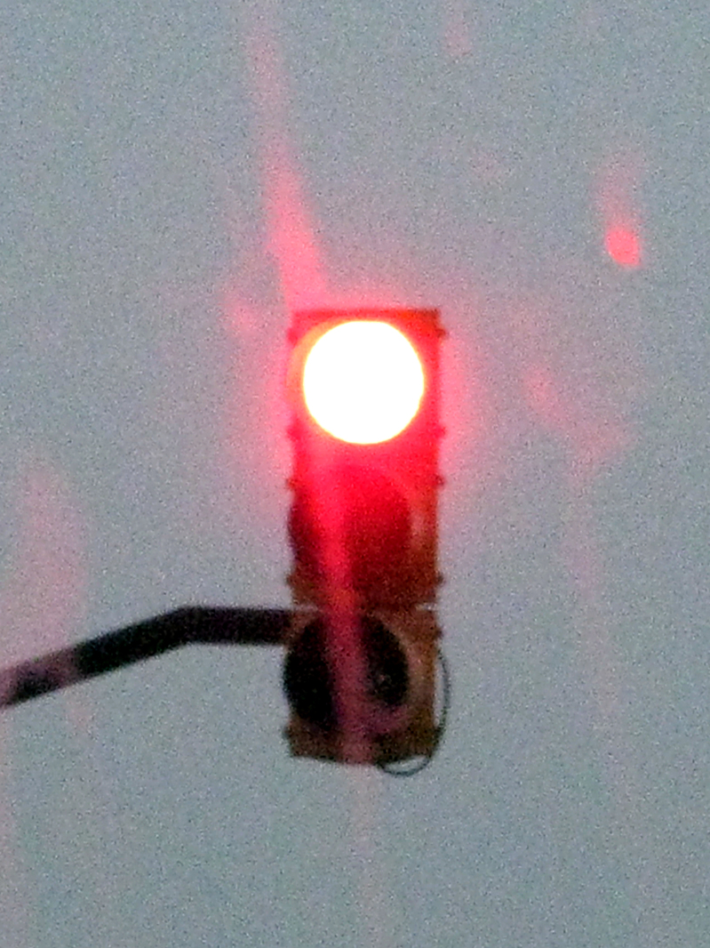 red signal, stop 