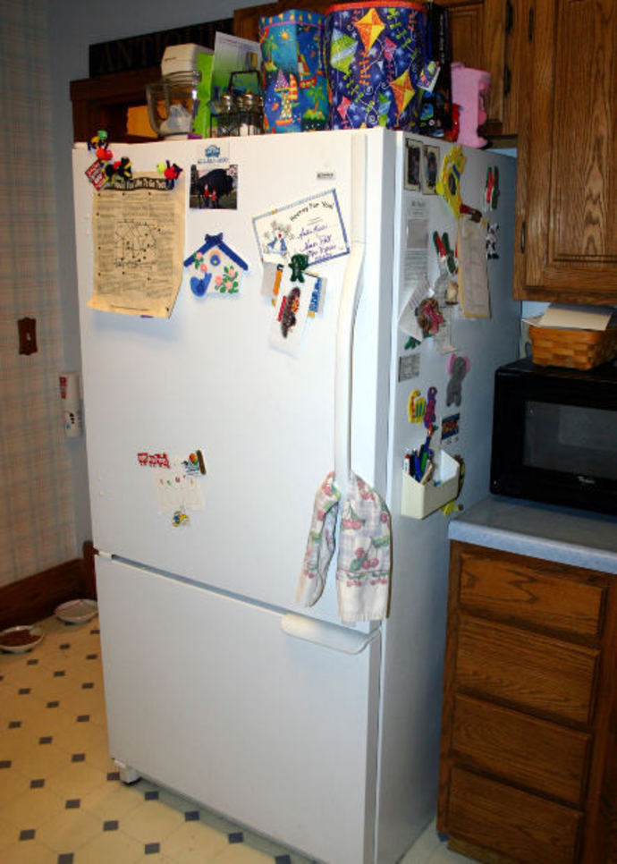 Refrigerator, Fridge magnets, memos