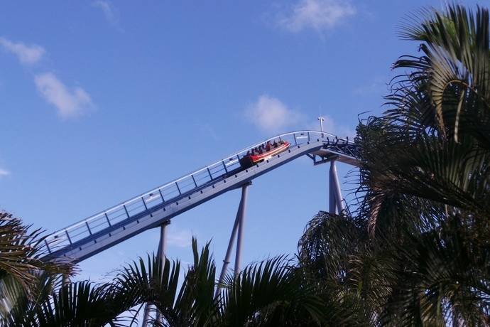 rollercoaster, theme park