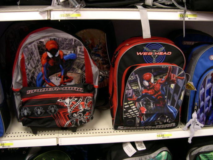 school bags, school supplies