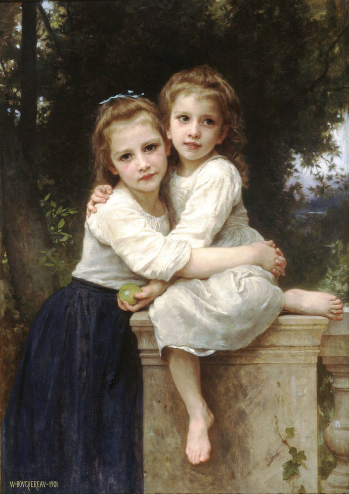 sisters embrace comfort