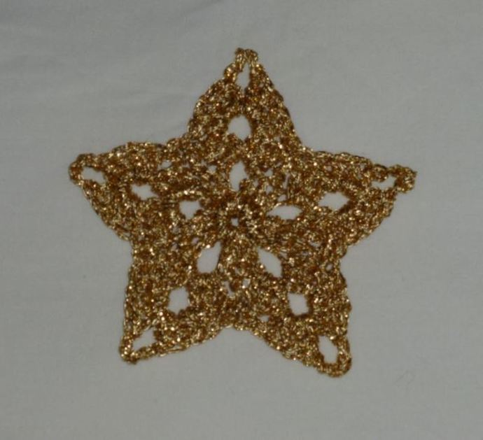 star crochet craft Christmas decorations