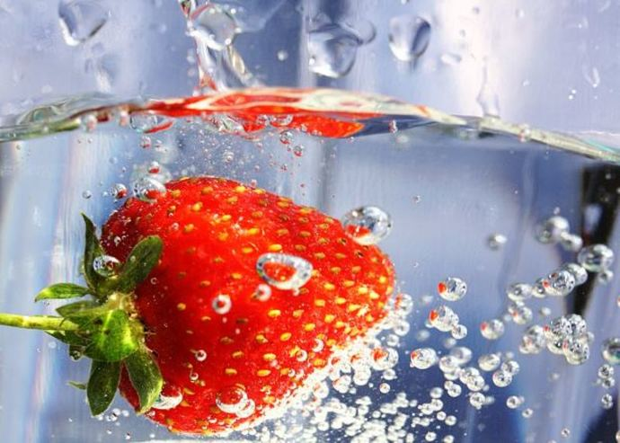 strawberry water