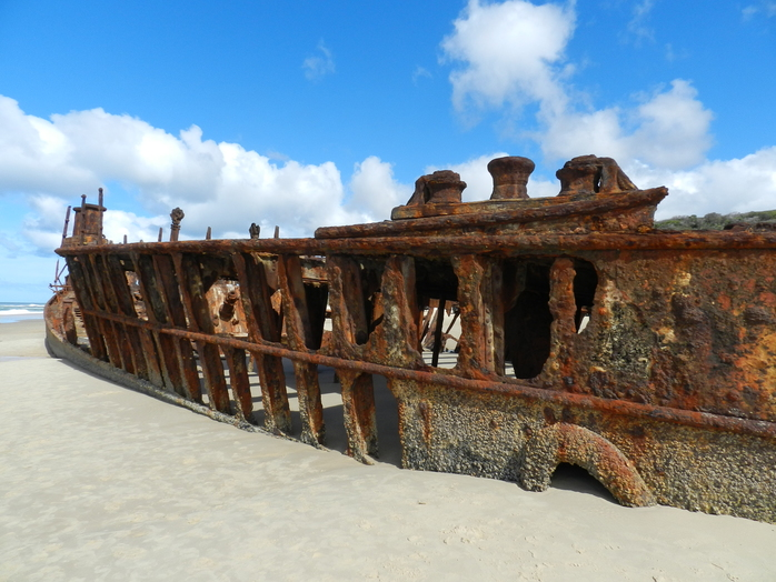 The Maheno, shipwrecked on Fraser Island by Gayle Beveridge