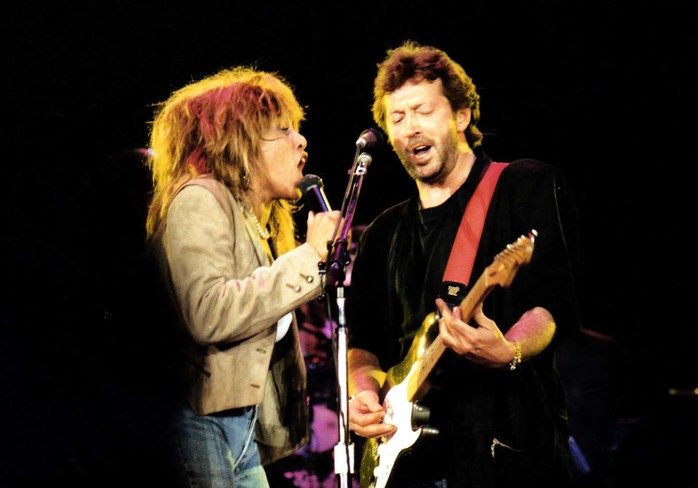 Tina Turner Eric Clapton music gig jamming guitar concert singing