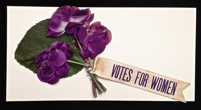 votes for women flowers violets discrimination suffrage elections feminism