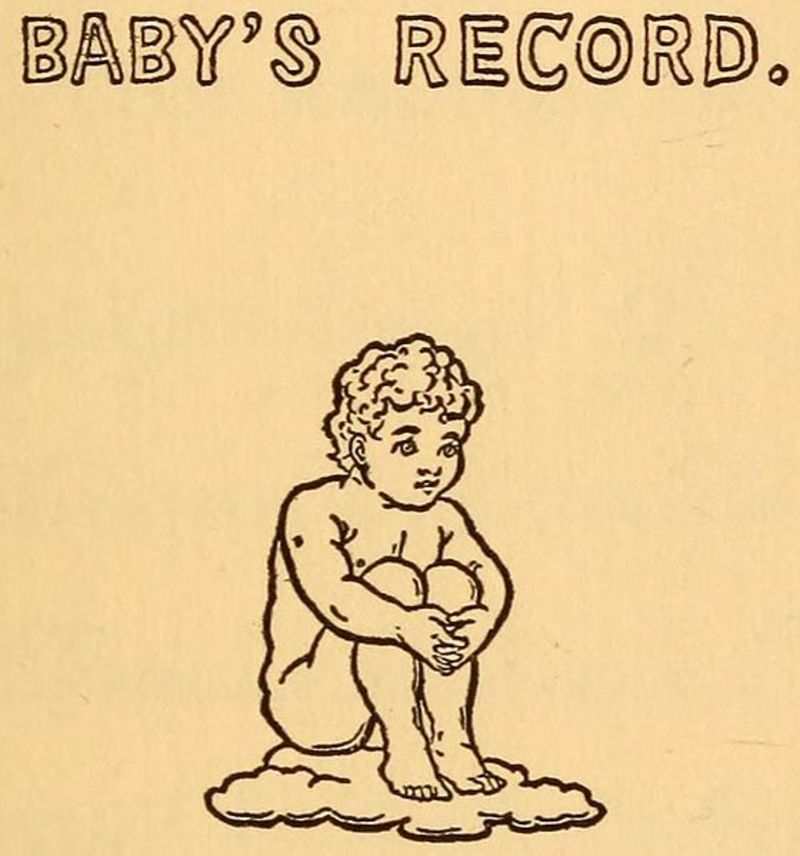 Baby record book  - Did you create or keep a keepsake or record book for your children?