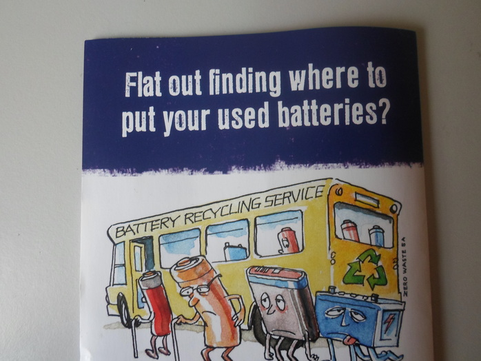 Battery recycling graphic