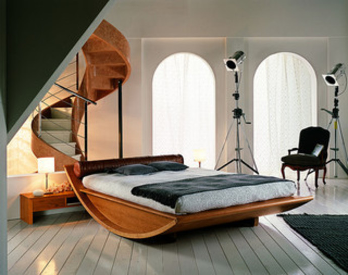bed, architectural bed, fancy bed, stylish bed, mazalli