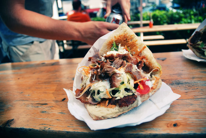 donner kebab fast food junk eating health wellbeing grease fat obesity