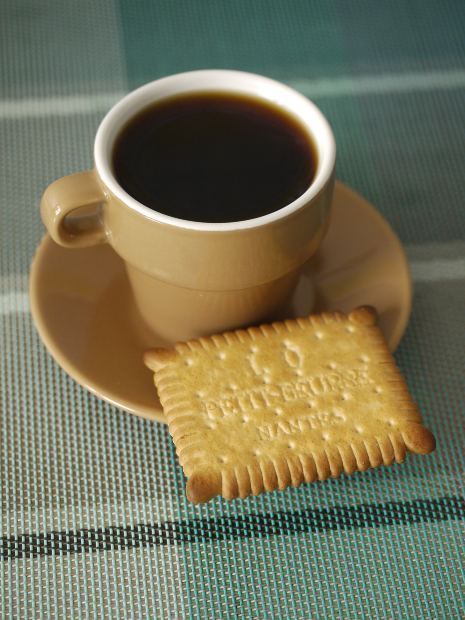 tea, biscuit  - Do you dunk your biscuits?