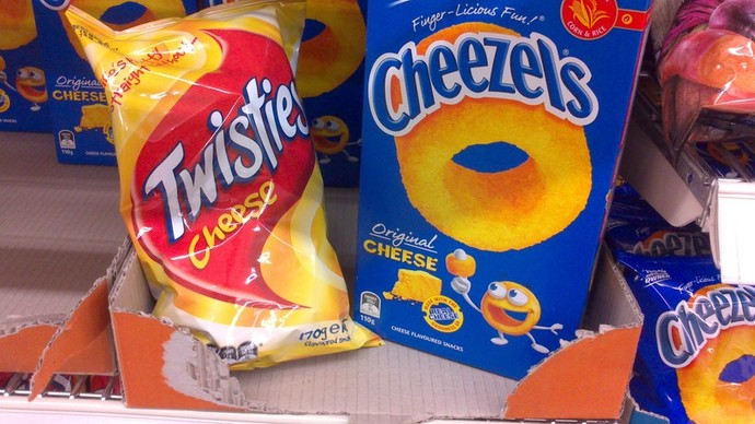 Twisties and Cheezels