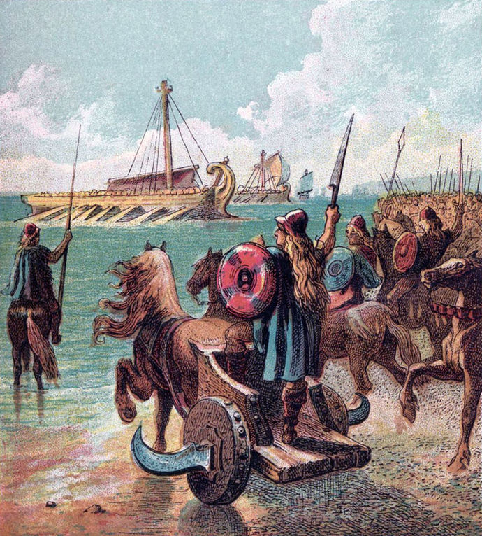 war soldiers romans britons warships